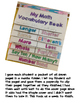 Math Vocabulary Flip Book - Great, Fun Assessment for Math Vocabulary Words