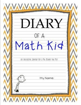 Interactive Math Diary - Diary of a Math Kid for 4th Grade