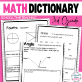 Interactive 3rd Grade Math Dictionary for the Whole Year - CCSS Aligned