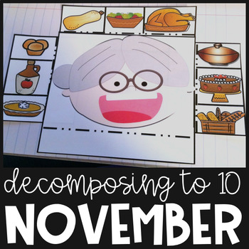 Thanksgiving Math Represent Solve 1-10