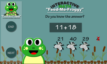 Interactive Math - Feed Me Froggy Game