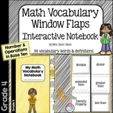 Math Vocabulary Interactive Notebook Number & Operations Base Ten 4th Gr.