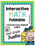 Interactive Math Foldable for Second Grade