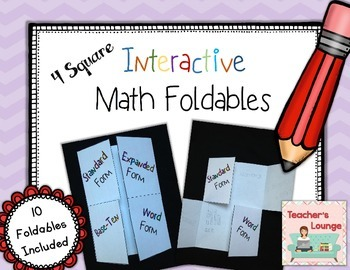 Interactive Math Foldables FREEBIE