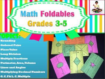 Interactive Math Foldables Grades 3-5 Bundle