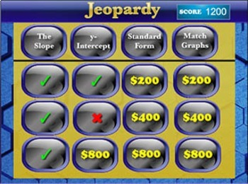 Interactive Math Game--Algebra Jeopardy: Linear Functions