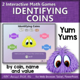 Interactive Math Game Identifying Coins {Yum Yums}