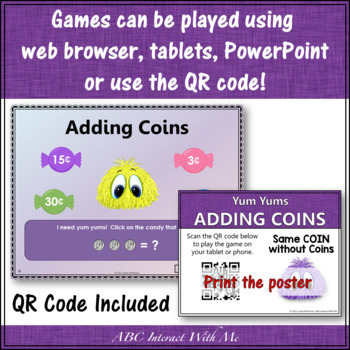 Interactive Math Game Money Adding Same Coin Combinations {Yum Yums}