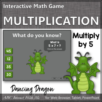 Interactive Math Game Multiplication by 5 {Dancing Dragon}