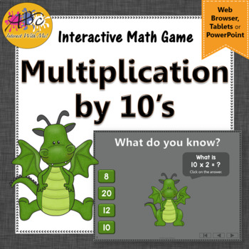 Interactive Math Game Multiplication by 10 {Dancing Dragon}