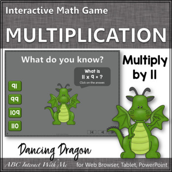 Interactive Math Game Multiplication by 11 {Dancing Dragon}