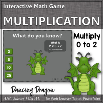 Interactive Math Game Multiplication by 0-2 {Dancing Dragon}
