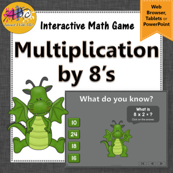 Interactive Math Game Multiplication by 8 {Dancing Dragon}