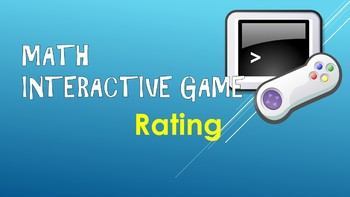 Interactive Math Game Rating Sheet
