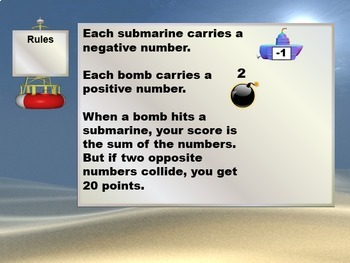 Interactive Math Game--Sub-Zero Zapper