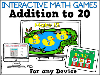 Interactive Math Games Addition to 20