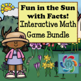 Interactive Math Games Bundle- Fun in the Sun with Facts distance learning