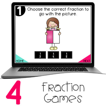 Interactive Math Games - Fractions
