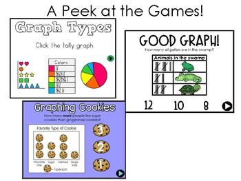 Interactive Math Games Graphs and Data