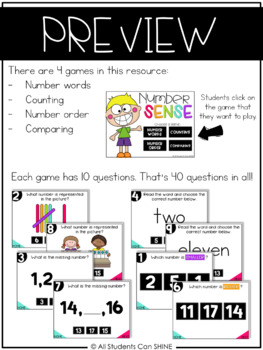 Interactive Math Games - Number Sense