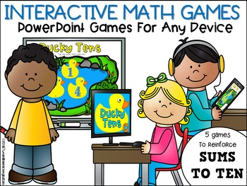 Interactive Math Games Sums to Ten