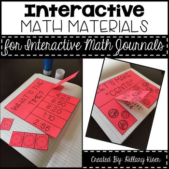 Interactive Math Journal Materials