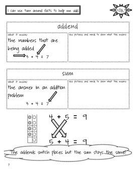 Interactive Math Journal - 1st Grade - Covers all CCSS