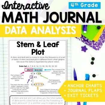 Interactive Math Journal: Data Analysis 3rd - 5th Grade