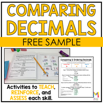 Comparing and Ordering Decimals Interactive Math Journal