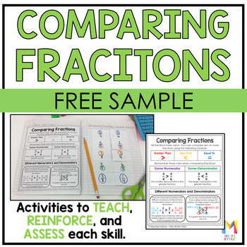 Comparing Fractions Interactive Math Journal