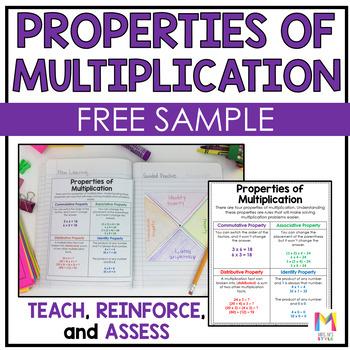 Properties of Multiplication Interactive Math Journal