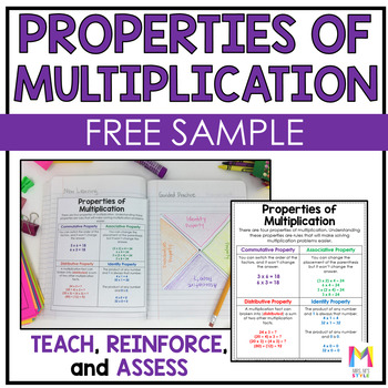 Multiplication Interactive Math Journal - FREE SAMPLE