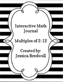 Interactive Math Journal Flaps Multiples 2-12
