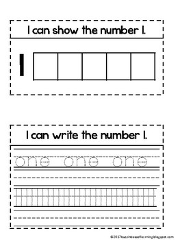 Interactive Math Journal - I can show and write my numbers.