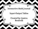 Interactive Math Journal Input-Output Table Robot