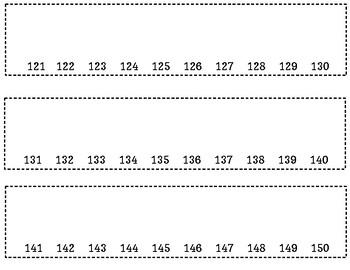 Interactive Math Journal Number Line 1-150