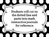 Interactive Math Journal Number Line 1-150