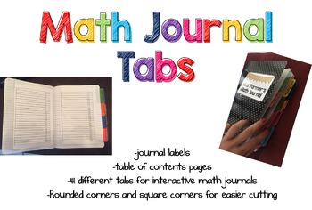 Interactive Math Journal Starter