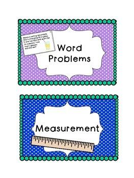 Interactive Math Journal & Task Cards {CCSS activities for 2nd grade}
