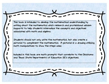 Interactive Math Journal Writing Notebook