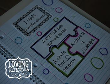 Interactive Math Journal for Kindergarten: ALL 4 UNITS