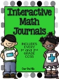 Interactive Math Journals- {ALL 1st and 2nd grade CCSS included}