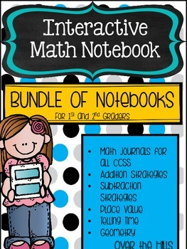 Interactive Math Journals--BUNDLE of all Journals for 1-2 graders