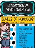 Interactive Math Journals--BUNDLE of all Journals for 1-2 graders