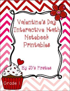Valentine's Day Interactive Math Notebook Freebie