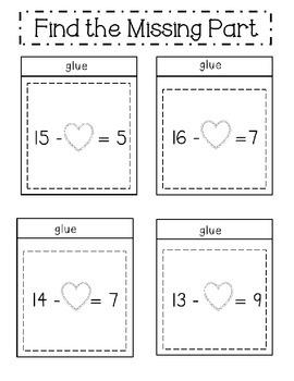 Valentine's Day Interactive Math Notebook Printables