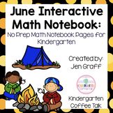 Interactive Math Notebooks for Kindergarten: June