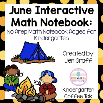 Interactive Math Journals for Kindergarten: June