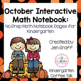 Kindergarten Interactive Math Journals for October