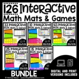 Interactive Math Mats and Math Games - BUNDLE - Distance Learning